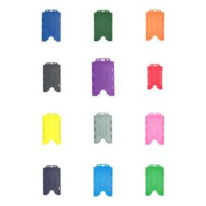 Antimicrobial Double ID Card Holder - Portrait - Pack of 10