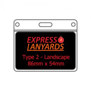 T2L PVC ID Wallet - 86mm x 54mm Landscape - Pack of Ten
