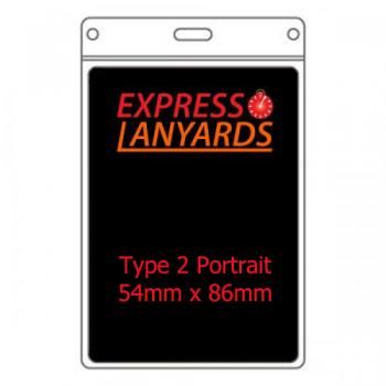 T2P PVC ID Wallet - 86mm x 54mm Portrait - Pack of Ten