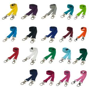 Plain Lanyard - Double Clip Lanyard - 10 Pack