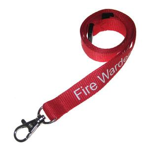 Fire Warden Lanyard - Pack of Ten