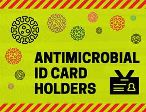 Antimicrobial ID Card Holders Mobile Banner